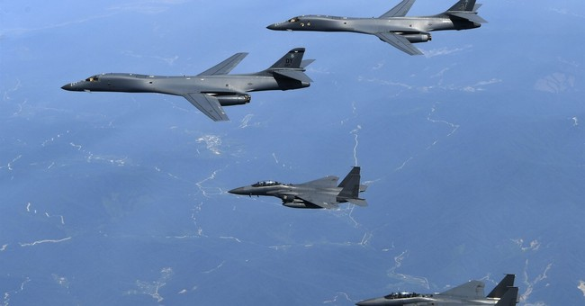 US B-1B bombers conduct exercise over Korean Peninsula