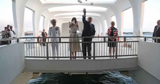Trump visits Pearl Harbor, USS Arizona memorial