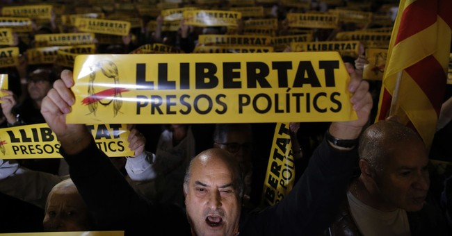The Latest: Basque Country marches in support of Catalonia