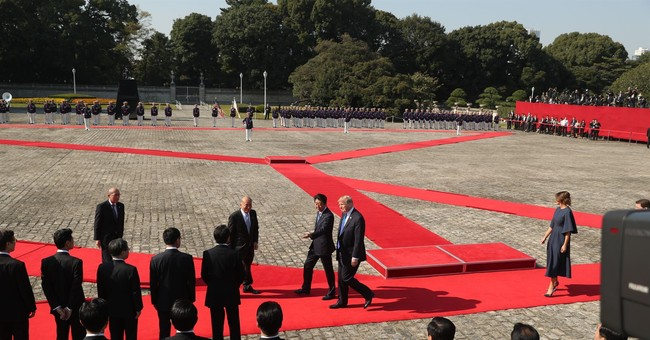 The Latest: Trump expects large-scale military sale to Japan