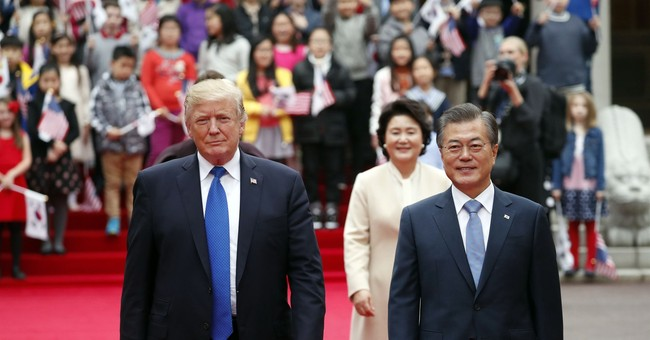 The Latest: Trump: North Korea 'front and center' in talks
