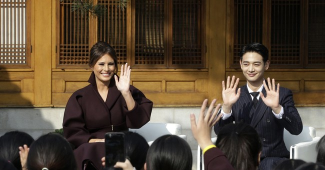 Video of US first lady, teens and K-pop star goes viral