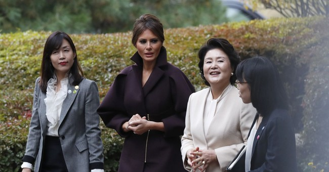 Trump and his wife treated to delicacies by SKorean 1st lady