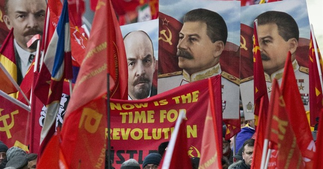 Communist supporters mark Bolshevik Revolution centennial