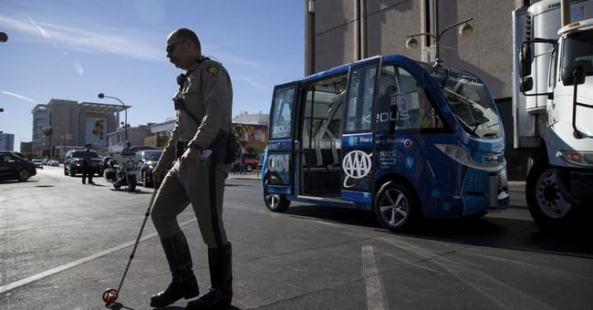 Self-operating shuttle bus crashes after Las Vegas launch