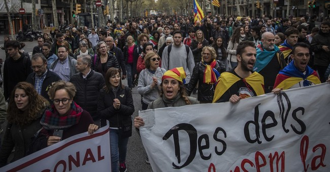 The Latest: Pro-secession Catalans hold evening protests