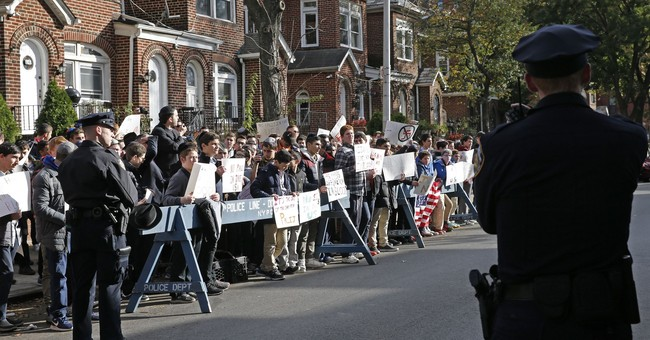 Demonstrators protest outside NYC home of former Nazi guard