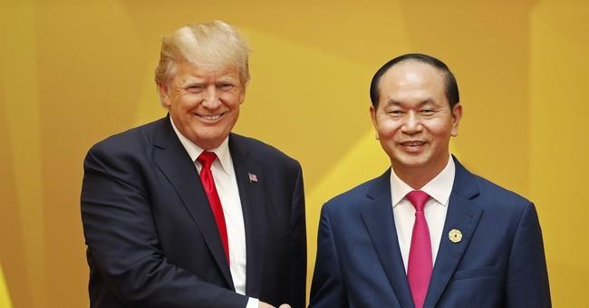 The Latest: Trump and Putin cross paths again in Vietnam