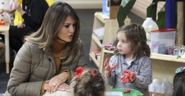 Melania Trump visits military families in Alaska