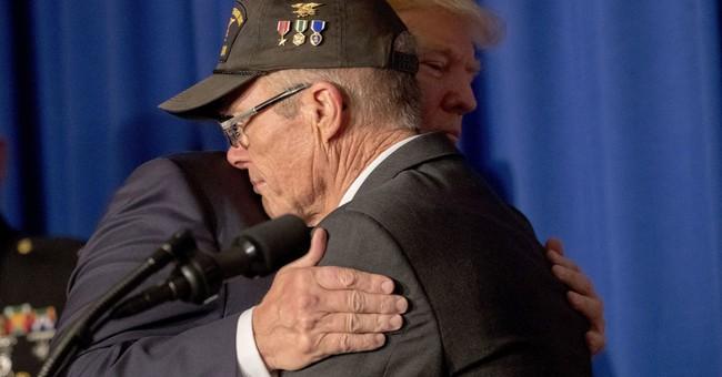 AP FACT CHECK: Trump on veterans' health care, economy