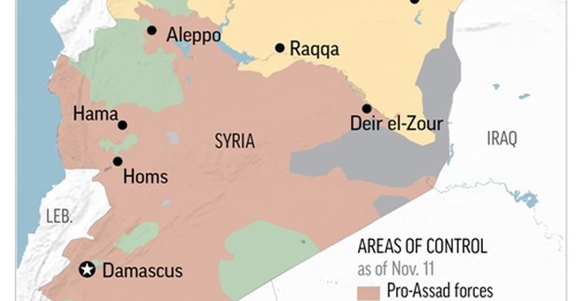 Report: IS leader may be in eastern Syrian city of Boukamal