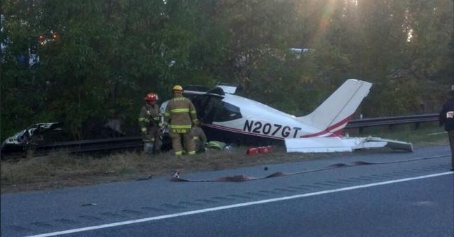 Small plane crashes near Maryland interstate; no one hurt