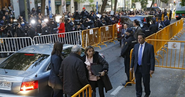 The Latest: Catalan parliament speaker posts bail in Spain