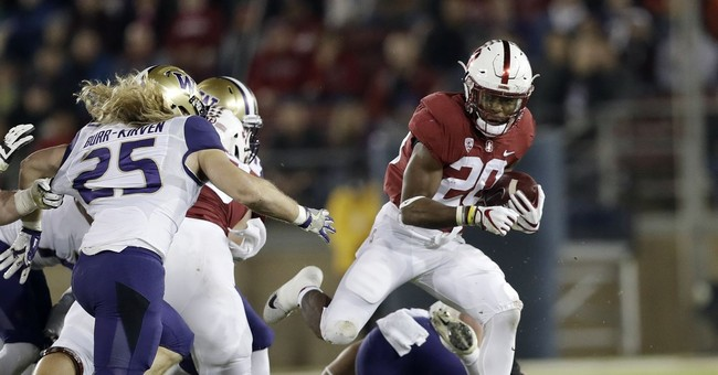 Love's 3 TDs lead Stanford past No. 9 Washington 30-22