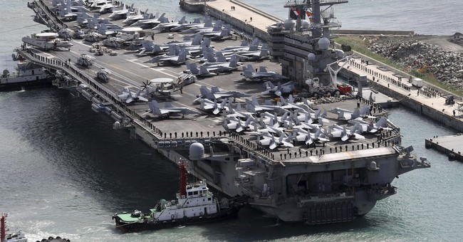 North Korea says US carrier groups raise nuclear war threat