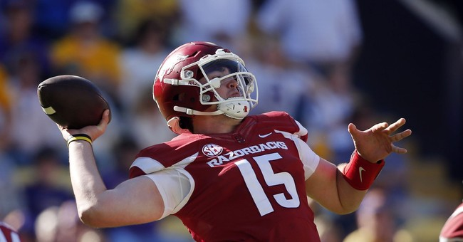 Arkansas QB Cole Kelley arrested on suspicion of DWI