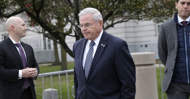 The Latest: Menendez thanks jurors for 'standing up' for him