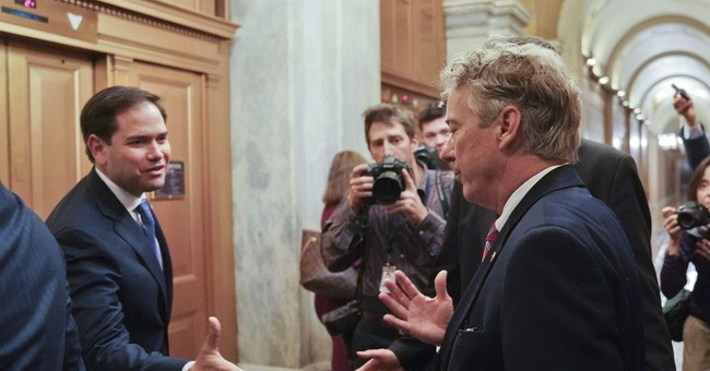 Rand Paul back in the Senate, walking gingerly after assault