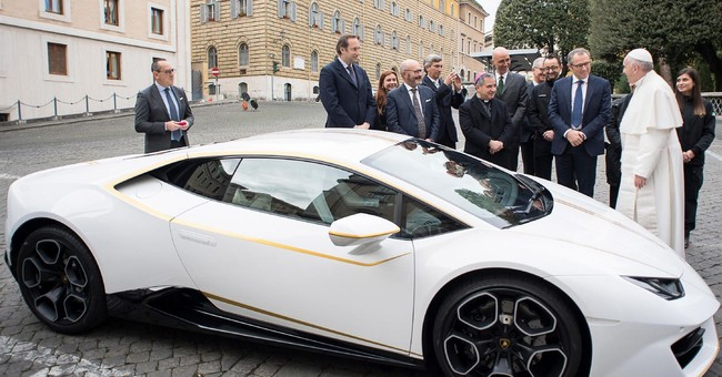 Pope auctions Lamborghini to rebuild Christian Iraq