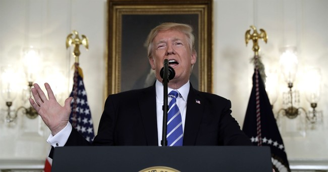 Trump pauses address to nation to take 2 big swigs of water