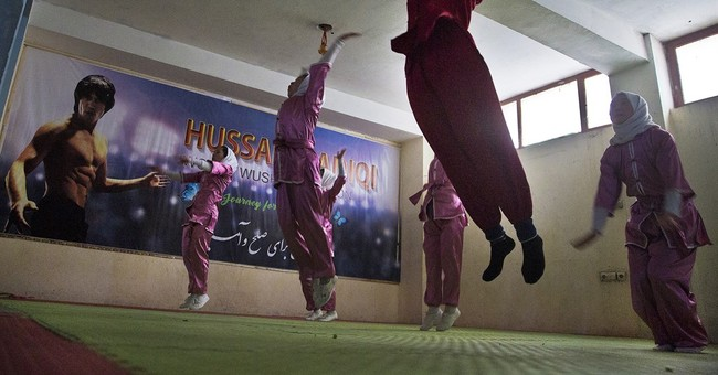 Afghan women practice ancient Shaolin martial arts