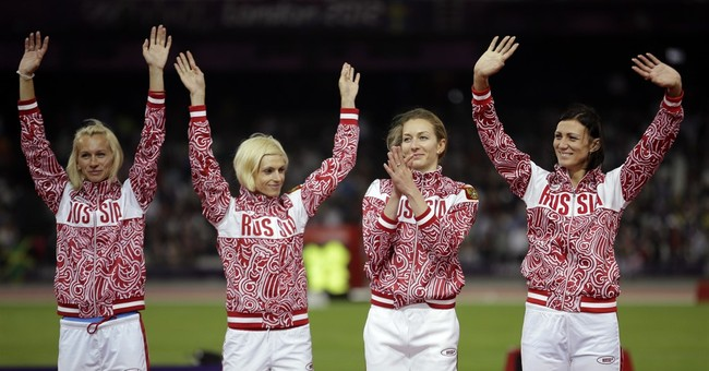 Russia loses 2012 Olympic silver in women's 4x400 relay