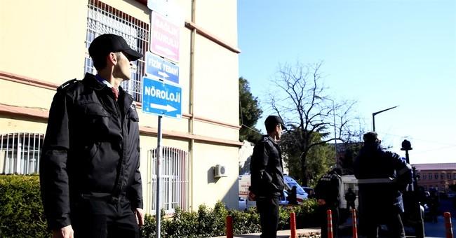 Hospital: Turkish policeman tries to kill self, causes panic