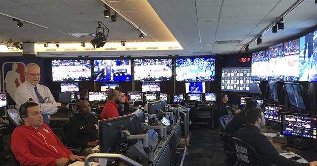 At Replay Center, NBA refs far from the game but right in it