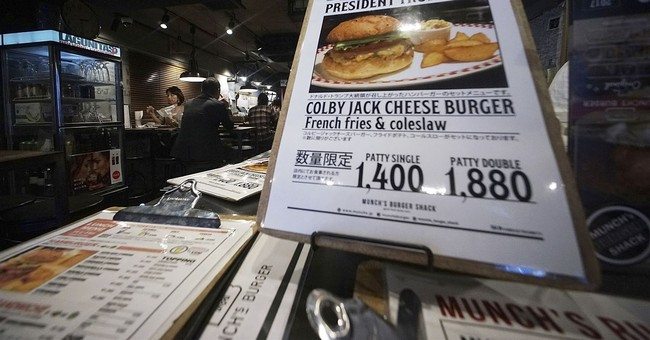 Trump's cheeseburger in Japan still drawing lines