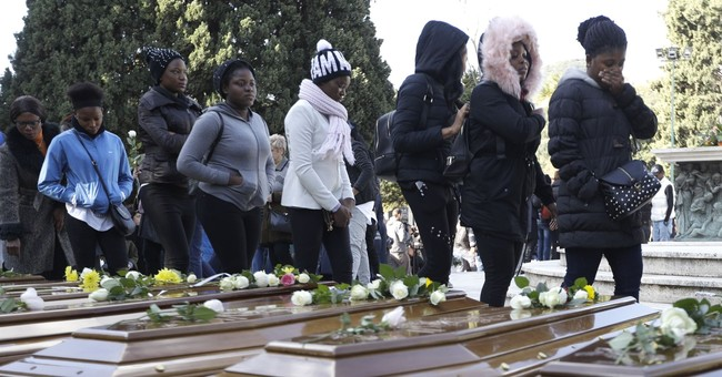 Italy buries 26 Nigerian women _ most without a name