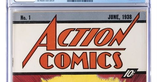 Rare comic showing Superman's 1st appearance to be auctioned