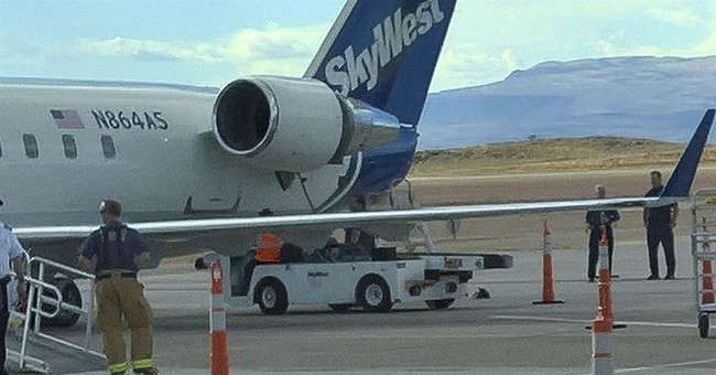 Part of plane engine cover fell off in flight, travelers say