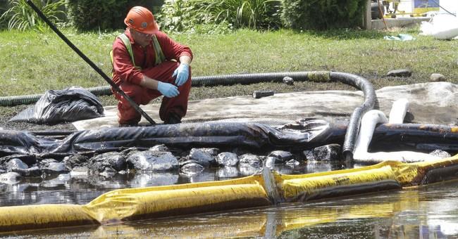 Top 20 onshore US petroleum spills since 2010