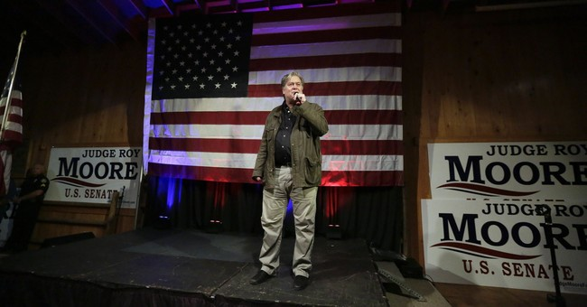 The Latest: Bannon now says he'll campaign for Roy Moore