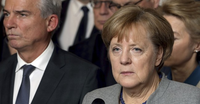 The Latest: Merkel 'very skeptical' about minority gov't
