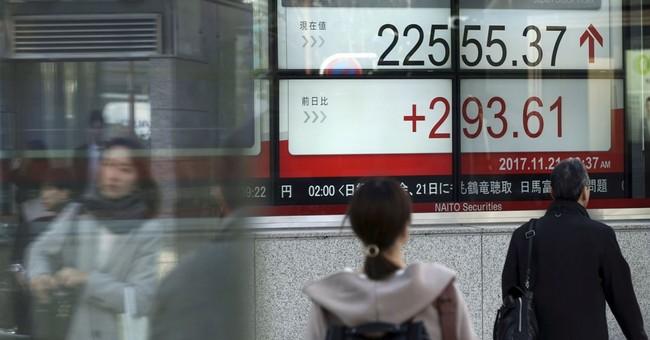 Asian shares advance as Wall Street regains ground