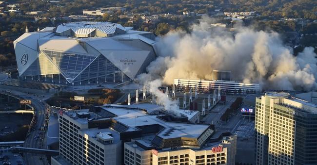 3-2-1, BAM! Georgia Dome imploded in downtown Atlanta
