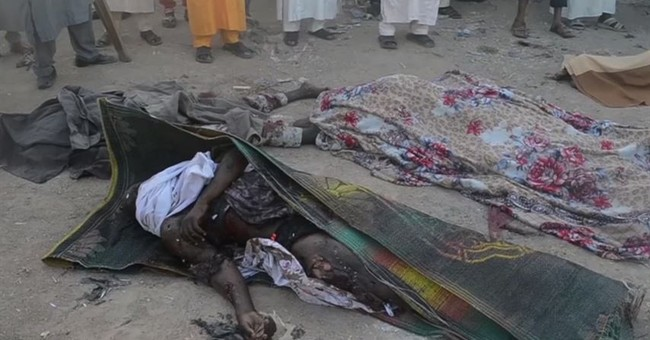 The Latest: Nigeria president calls bombing 'very cruel'