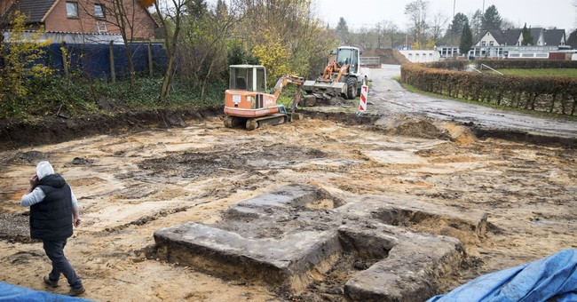 Giant swastika unearthed in Germany