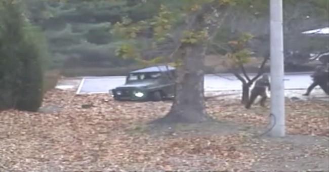 Dramatic video shows escape, shooting of N. Korean defector