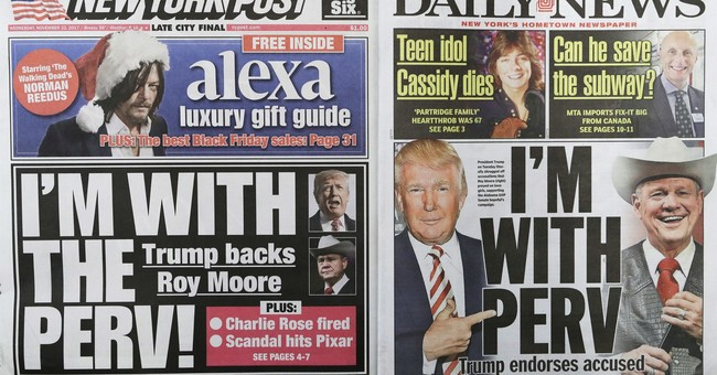 New York tabs share 'I'm With Perv' headlines on Trump