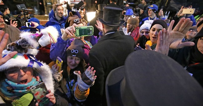 Pennsylvania groundhog's handlers: Phil predicts more winter