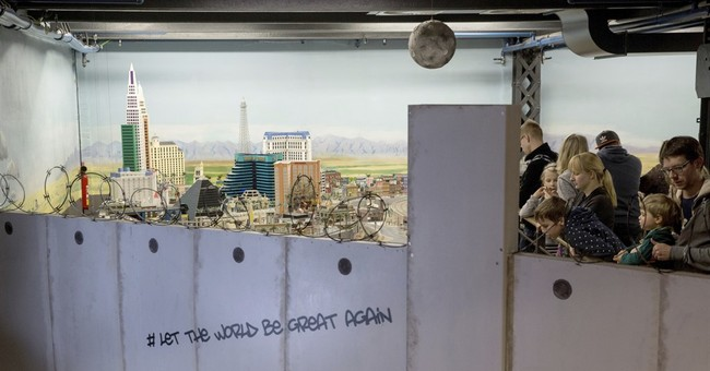 Wall goes up around America at miniature world in Germany