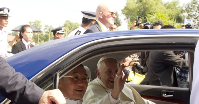 The Latest: Pope meets with powerful Myanmar military chief