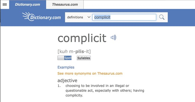 Dictionary.com chooses 'complicit' as its word of the year