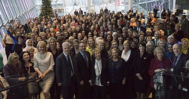 Women leaders tackle gender equality at Iceland summit