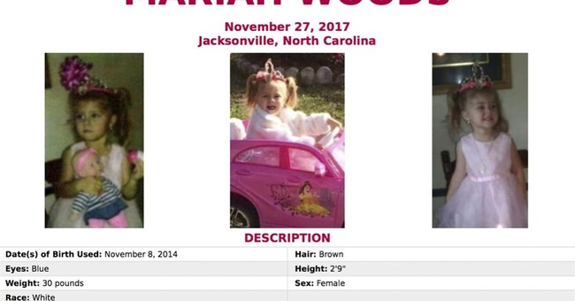 Search under way for missing North Carolina girl