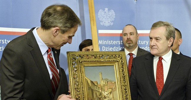 Painting looted during WWII returns to Poland with US help