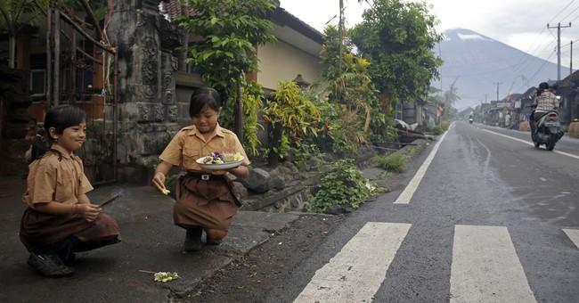 Bali volcano grounds 'Stranger Things' star Brown on island