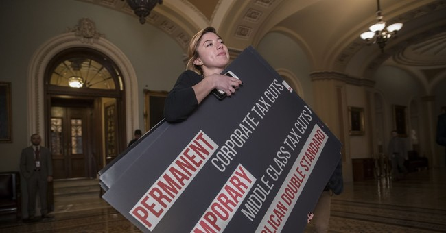 Taxes and tweets: Senate Democrats mock text of GOP bill